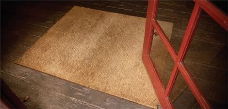 Coir Matting In Use