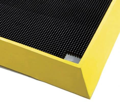 Deep Yellow Foot Bath Mat Corner