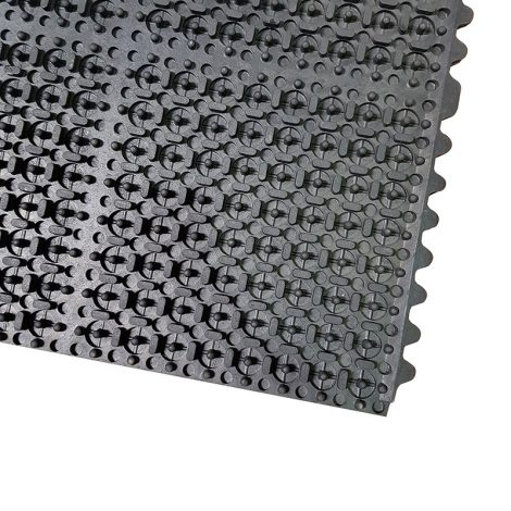Link-Tile Solid-Top Anti-Fatigue Mat Back Corner