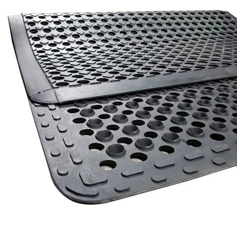 Premium Anti-Fatigue Mat Showing Surface and Back of Rubber Mat