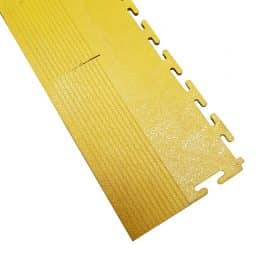 PVC Link Tile Yellow Edge Corner