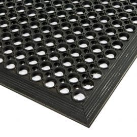 Surface Corner Detail - Open Top Rubber Mat