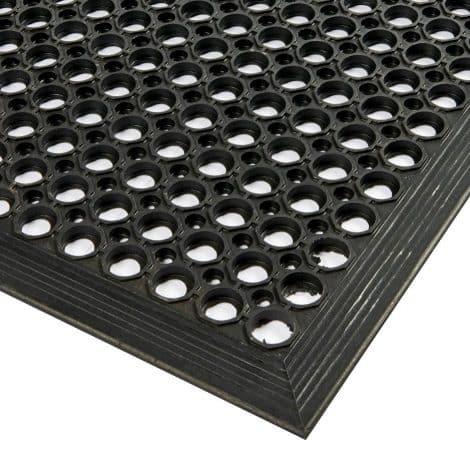 Surface Corner Detail - Open Top Rubber Mat