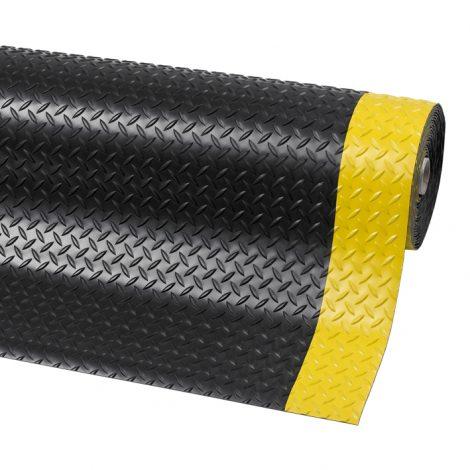 Diamond Plate Runner Matting - Black & Yellow Border