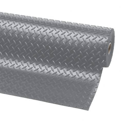Diamond Plate Runner Matting - Grey