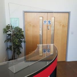 Clear Acrylic Hygienic Screen in use