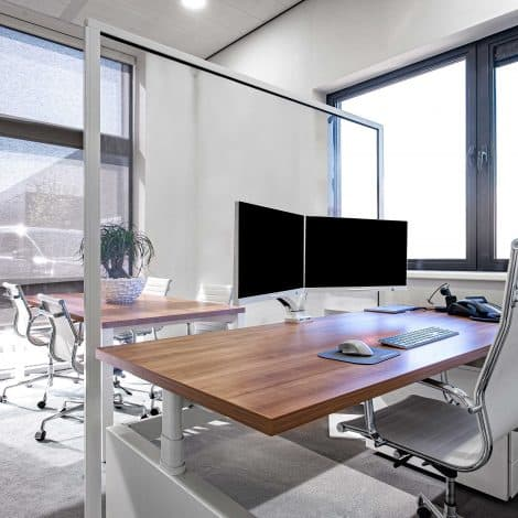 FreeStand Protection Screen - Behind Desk